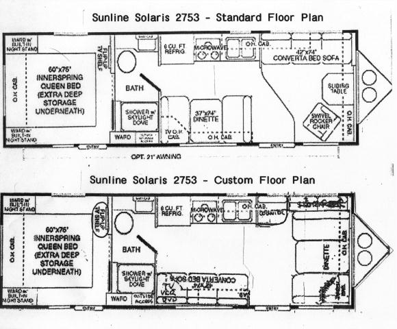 floor plans stock and custom 2003 sunline travel trailer rh rv theleclairs org Lance Camper Wiring Diagram Camper Wiring Diagram 30A